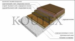 The floors strengthened polymeric bulk