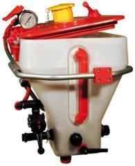 Mixer of working liquid of sprayer
