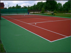 Sports floors polymeric bulk design TM of Kouteks.