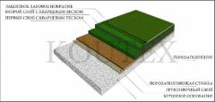 Floors for gyms polymeric bulk with high