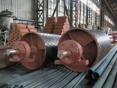 Drum for driving and tension stations of conveyors