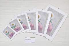 Антирама 210х297мм белый PVC формат А4 безбагетная
