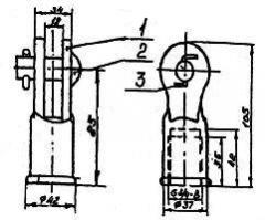 Ушко шарнирное (тип УШД) 022