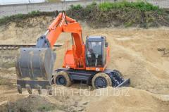 Excavatoare pe roti