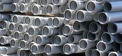Pipes PVC for the internal, external sewerage,