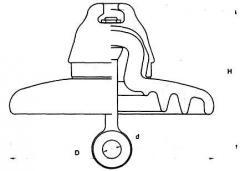 Изолятор подвесной фарфоровый СФ70-А