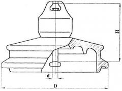 Изолятор подвесной фарфоровый ПФГ80-II