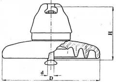 Изолятор подвесной фарфоровый ПФ160-А