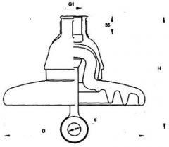Изолятор подвесной фарфоровый ФФ40-А