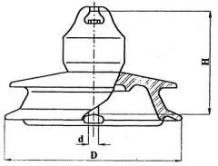 Изолятор подвесной фарфоровый ПФГ80-I