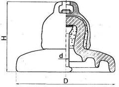 Изолятор подвесной фарфоровый U40BL