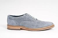 Туфли серо-голубые замшевые Berkelmans
