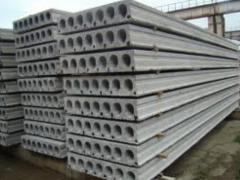 Железобетонные  многопустотные  плиты перекрытия