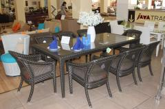 Rattan table on 8 person.vip