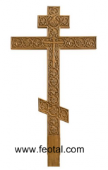 Cross oak with a carving (crown of thorns)