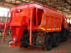 The machine road MDKZ-20/25 (on a dump truck body)