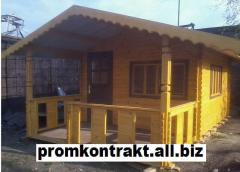 Construction of houses and cottages from tree,
