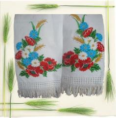 The embroidered bench hammers beads