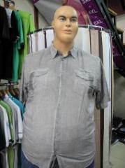 Men's shirt Article: 156, big sizes wholesale