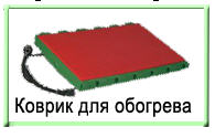 Rug for heating of pigs