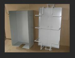 Cabinets electromounting from a stainless steel