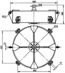 Коромысло четырехцепное 4КД2-25-1с двумя точками
