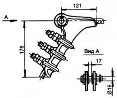 میله فلزی برای کابل و هوایی خطوط برق