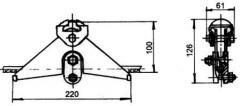 Зажим поддерживающий глухой ПГ-3-12