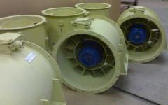 Fans axial big productivity