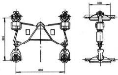 Зажим поддерживающий глухой 4ПГН-5-2А