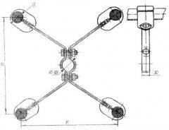 Распорки специальные 4РС-3-600, 4РС-3-400 и 4РС-4-600