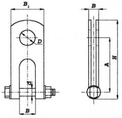 Bracket three-web-footed CKT-7/45-1