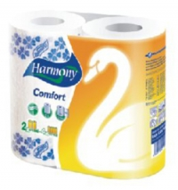 Paper towel Harmony of 2 pieces 2nd layer white