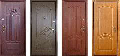 Вхідні двері оздоблені  ламінованим МДФ