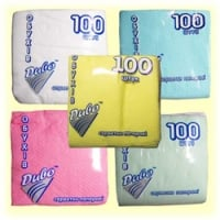 Napkins of 100 pieces 33х33 blue (Code: 70462)