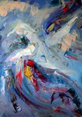 Картина маслом, абстракция, фигуратив, А. Миронова