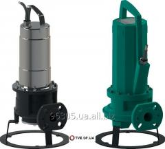 Submersible pump with the cutting mechanism for
