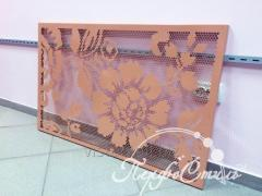 The decorated screens for heating radiators