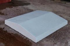 Кришки бетонні на забори сірого кольору 180x500мм,
