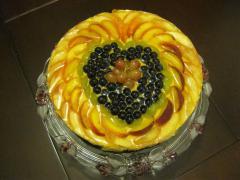 Творожно- фруктовый торт