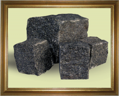 Gabbro stone blocks