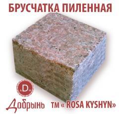 Granite stone blocks. Price. The Polnopilenny