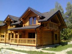 Construction of turnkey wooden cottages