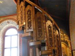 Сходи дуговие|деревянная кручені сходи з