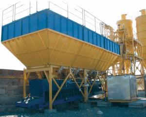 The weight batcher of inert materials, consists of
