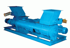 Screw feeders cement dispenser used as a cement