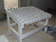 Roller conveyor. Roller table stransporterny