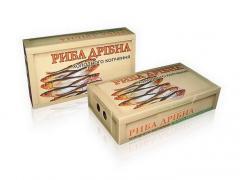 Упаковка для мелкой рыбы