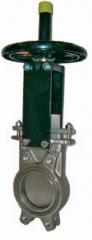 Шиберно-ножевая задвижка двунаправленная межфланцевого типа AB Ду 50