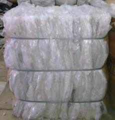 Waste of polyvinylchloride films. Film waste (film
